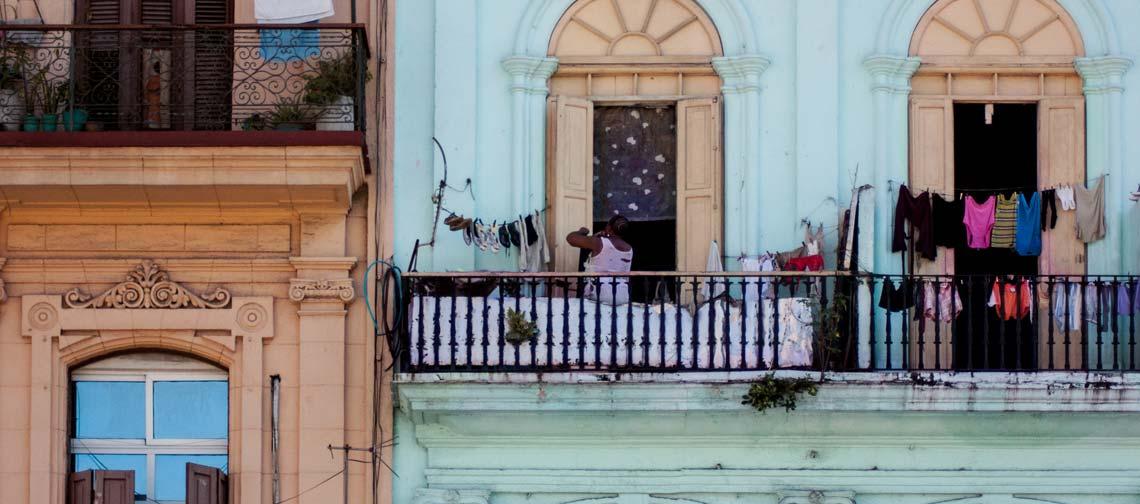 Ein typisches Haus im Herzen von Havanna.
